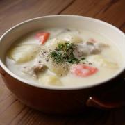 豚肉と根菜の豆乳シチュー