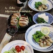 ◆牡蠣のソテーにカブのパンチェッタグリルでおうちごはん♪
