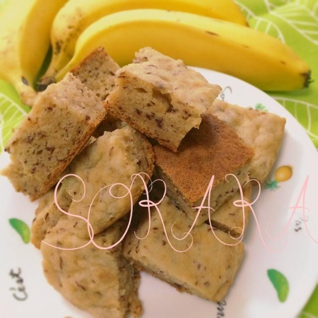 炊飯器でふわもちっ♡米粉のバナナケーキ♡【小麦、卵、乳不使用
