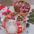 雪だるまおにぎり弁当〖 デコ弁*クリスマス〗 by とまとママさん