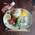 鳥もも肉のエスニックBBQチキン☆ハウス エスニックガーデン   タイ風クッキングペースト<ナンプラーミックス>使用