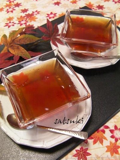 もみじの紅茶ゼリー