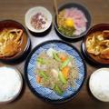 【家ごはん】 里芋のもやしひき肉餡 と 蟹のお味噌汁 by こぶたさん