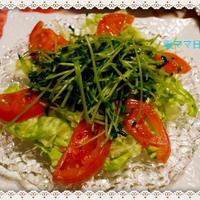 シャキシャキ食感「豆苗炒め・サラダ」♪