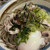 トロロ温玉肉☆ぶっかけ蕎麦~☆