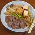 クセになる絶妙な甘辛さ! 牛ごぼうと厚揚げのすき煮 by KOICHIさん