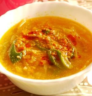 大根麺の坦々スープ