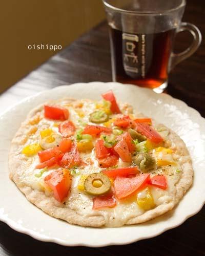 子どもと作るフライパンでピザ♪