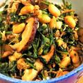 ■菜園発!簡単5分♪【間引き大根葉で 大豆/シラス/椎茸の甘辛炒め】