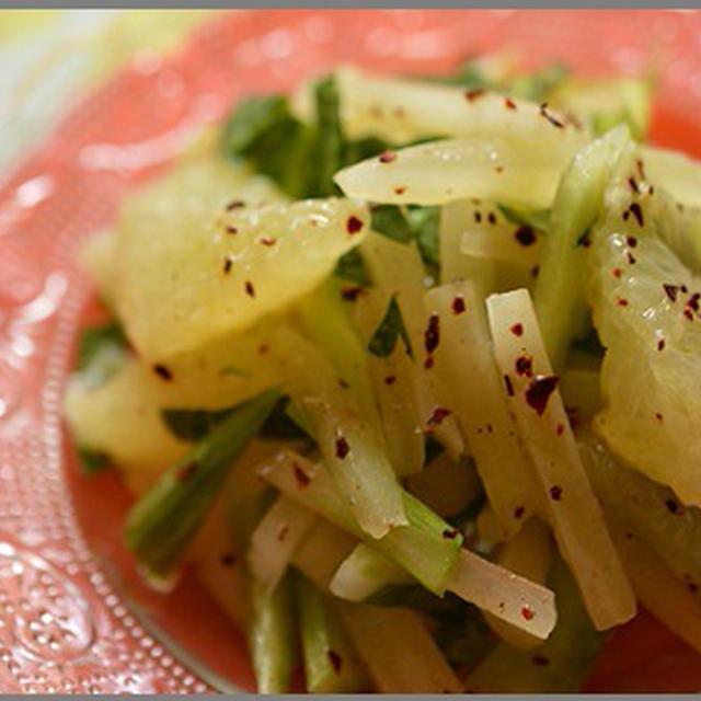 ヤーコンとグレープフルーツのサラダ(其レ其レさんの野菜で)