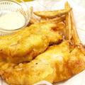 【洋食】「真鱈で簡単☆フィッシュ&チップス」&スパイシーカレーピラフで晩ご飯。