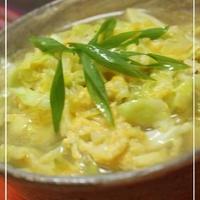 中華三昧で☆キャベツカルボ麺☆