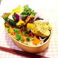 9・5 塩麹鶏のオーブン焼き弁当~♪ by ささっちさん