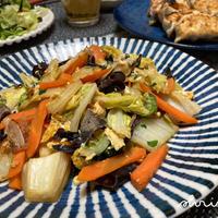 きくらげと白菜の炒め物。とわるさーとり