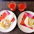 おうちでナンスタイル♪~スモークサーモンとたまごのクリームチーズサンドイッチ風~ by みなづきさん
