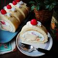 寒かった~(汗)でも楽しかった❤と、プリンアラモード風ロールケーキ♪