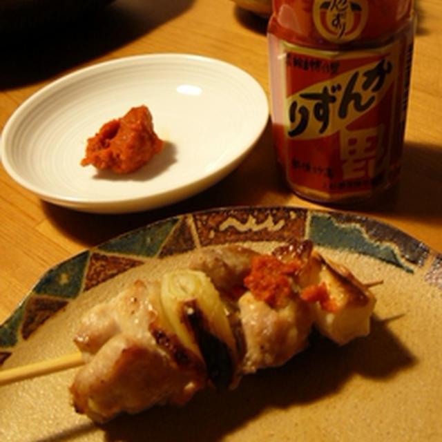 美登利寿司とかんずりで焼き鳥
