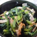 5分で一品追加!小松菜と油揚げの煮びたし