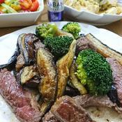 ステーキ肉一枚で ボリューム料理