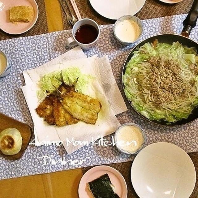 フライパンごと出せちゃう★キャベツとひき肉のラクチン中華煮