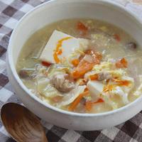 サンラータン風?野菜たっぷり豆腐スープ
