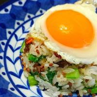 元気回復!挽き肉と小松菜のスタミナ混ぜご飯