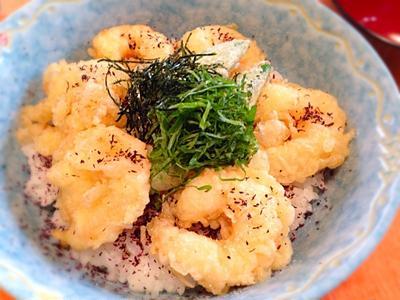 あっさり天ぷら!エビ塩ガッツリ天丼!