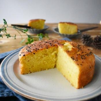 しっとり香る【さつまいものバターケーキ】簡単*