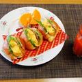 たまにはさっぱり梅マヨde和風サンドイッチ♪~♪