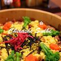 きれい女子のひな祭りに!玄米&黒米ちらし寿司☆マクロビ・グルテンフリーレシピ