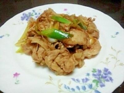 すき焼きのタレで生姜焼き
