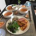 ミニトマトの味噌ポタージュ de フレンチトーストの朝ごはん。