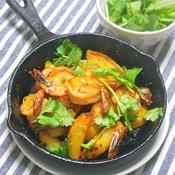 海老とポテトのトムヤム焼き