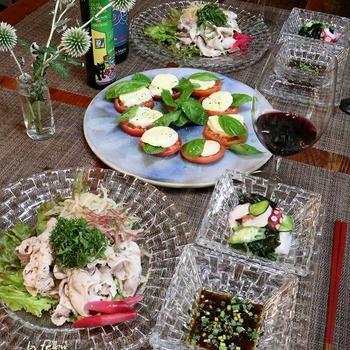 ◆冷しゃぶサラダでおうちごはん♪~ゆるやか糖質制限中♪