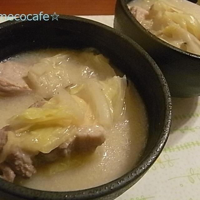 圧力鍋de豆乳味噌鍋
