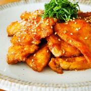 やわらか鶏のにんにく照り焼き♪鶏むね肉で家飲み簡単おつまみレシピ
