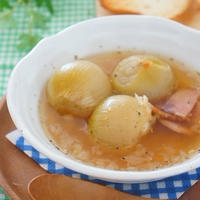 朝ごはん♪まるごと玉ねぎスープ