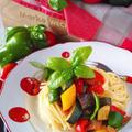 【ひと鍋で作れる】ビタミンたっぷり夏野菜のラタトゥイユのスパゲッティ