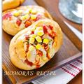 ホットケーキミックスで簡単20分♪卵・オイル不使用ふわふわヘルシー豆腐ハムマヨコーンパン♡お菓子なお総菜 パン