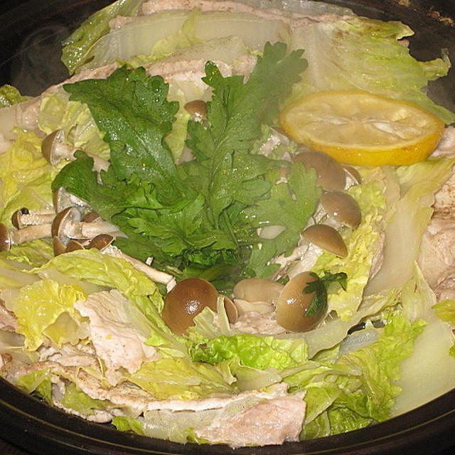 豚肉と白菜のミルフィーユタジン鍋