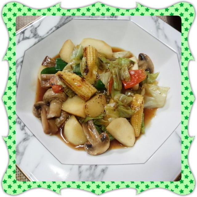 冷蔵庫の残り野菜で作る八宝菜・五目炒め