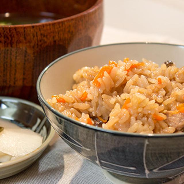 炊飯器より早く炊き上がる、土鍋で炊き込みご飯