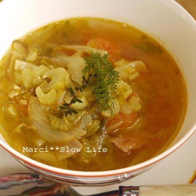 カレー粉ダイエット♪代謝UP具だくさん野菜スープ
