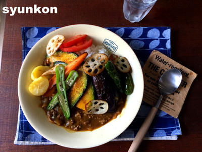 【簡単!!】フライパン1つで*夏野菜とひき肉のカレー