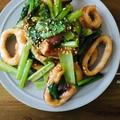 めっちゃ簡単!イカと小松菜の炒め物と、ラムレーズンミルクフランスの話。