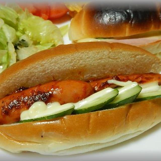 ホットドッグとロールパンサンド~食欲の秋