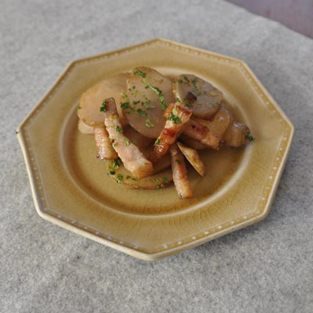 菊芋のベーコン炒め