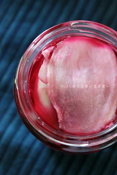 梅干しの副産物の赤梅酢を使って紅生姜作り~紅生姜の作り方。