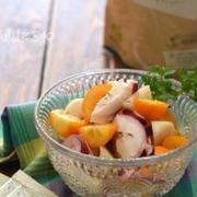 タコときんかんのBOMマリネ。(マリネサラダに果物)