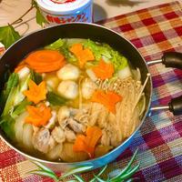 おうちに有る野菜を使って、簡単!田舎風だまっこ鍋